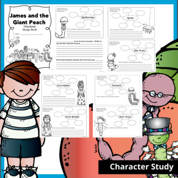James and the Giant Peach Novel Study {over 100 pages!}