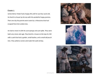 James and the Giant Peach - Powerpoint summary-  Review Adapted Book Powerpoint