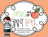 James and the Giant Peach Roald Dahl Complete Novel Vocabulary Unit