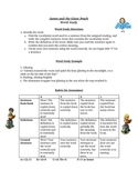 James and the Giant Peach Spelling Word Study Activity List