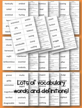 James and the Giant Peach Vocabulary, Plot, Character, Setting and more!