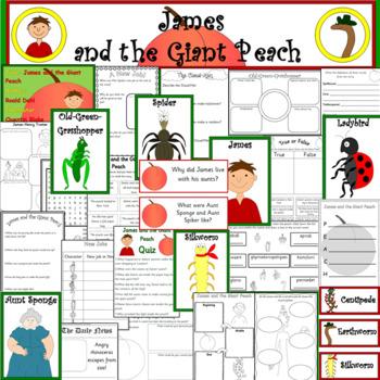 James and the Giant Peach book study unit- ROALD DAHL