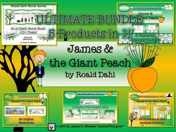 James and the Giant Peach by Roald Dahl Ultimate Novel Stu