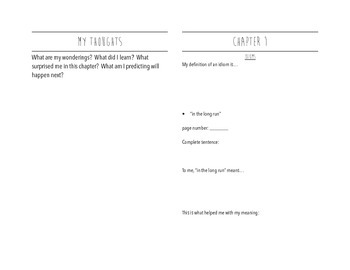 James and the Giant Peach (full version): student vocabulary journal