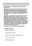 James and the Giant Peach short reading comprehension (homework)