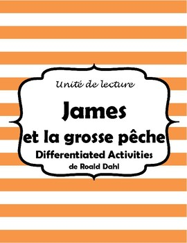 James et la grosse pêche - Novel Study IEP modified activities (*FRENCH*)