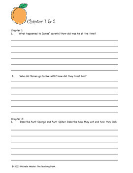 James and the Giant Peach Comprehension and Assessment Bundle