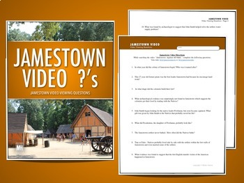JAMESTOWN HISTORY MINI UNIT: Webquest, Video Questions, Photos & Resources