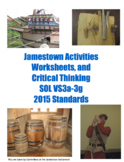 Jamestown Critical Thinking, Worksheets, & Activities for Virginia Studies 3a-3g