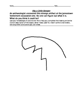 Jamestown Settlement Artifact Activity- Creative
