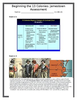 Jamestown Assessment