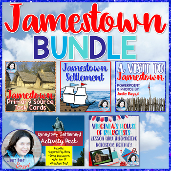 Jamestown Bundle: Engaging Unit, Task Cards, Activity Pack, and More!