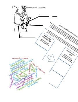 Jamestown Bundle: Notes, Critical Thinking, Worksheets, Bingo: VS3