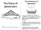 Jamestown, Christopher Newport, Pocahontas, Powhatan Booklet for Primary Kiddos!