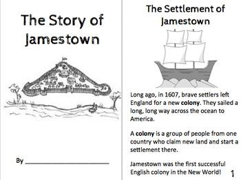 Jamestown, Christopher Newport, Pocahontas, Powhatan Bookl