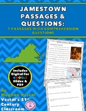 Jamestown Close Reading Passages & Questions VS.3 {Digital & PDF Included}