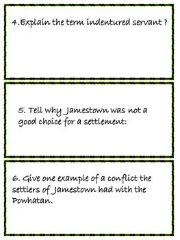 Jamestown Colonial Scavenger Hunt for Upper Elementary Social Studies