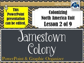 Jamestown Colony PowerPoint and Graphic Organizer