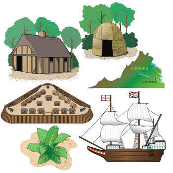Native Americans Clipart Black And White Jamestown Colony Clip ...