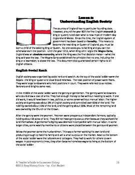 Jamestown Colony - Lesson 2: Understanding English Society in 1600's DBQ