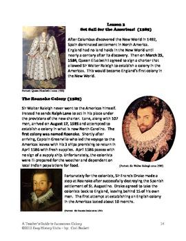 Jamestown Colony - Lesson 3: The Roanoke Mystery DBQ