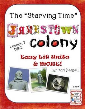 Jamestown Colony - Lesson 7: The Starving Time & Sea Venture DBQ