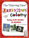 Jamestown Colony - Lesson 7: The Starving Time & Sea Venture DBQ