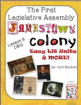 Jamestown Colony - Lesson 8: The First Legislative Assembly (1619) DBQ