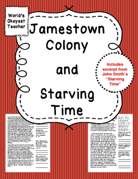Jamestown Colony and Starving Time
