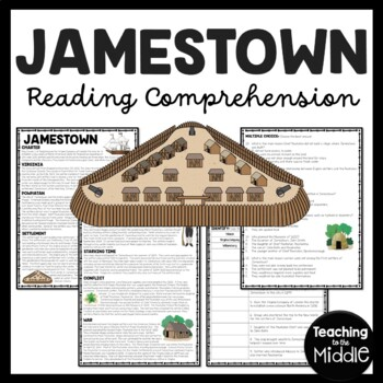 Jamestown Colony of Virginia Reading Comprehension Workshe