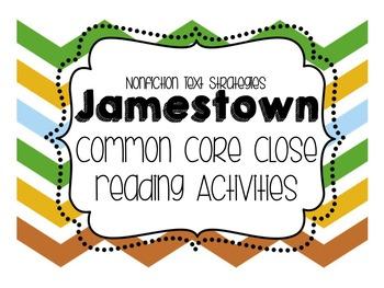 Jamestown Common Core Close Reading Activity