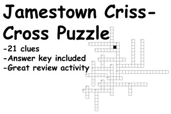 Jamestown Criss-Cross Puzzle