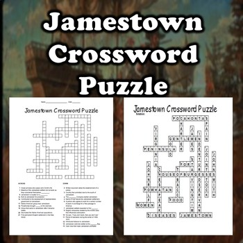 Jamestown Crossword Puzzle