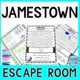 Jamestown ESCAPE ROOM Activity  Colonial Settlement & Star