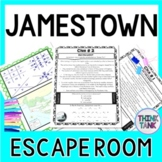 Jamestown ESCAPE ROOM Activity  Colonial Settlement & Star