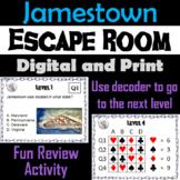 Jamestown: Escape Room - Social Studies