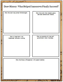 Jamestown: Five Lesson Unit, Sort, & Word Wall Cards