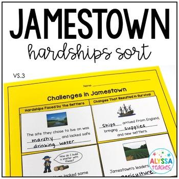 Jamestown Hardships Sorting Cards (VS.3f)