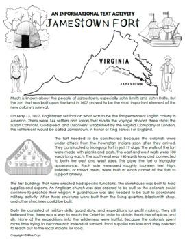 Jamestown Informational Text and Slide Show Bundle