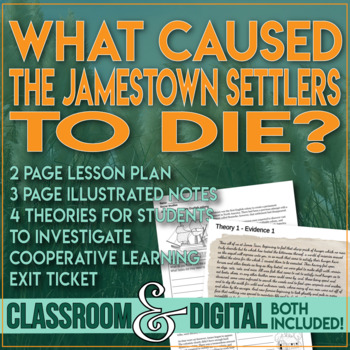 Jamestown Investigation Critical Thinking Student Compare Theories 13 Colonies