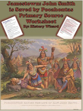 Jamestown: John Smith is Saved by Pocahontas Primary Source Worksheet