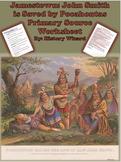 Jamestown: John Smith is Saved by Pocahontas Primary Source Worksheet
