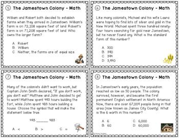 Jamestown Math Task Cards *Cross-Curricular* (VS.3)