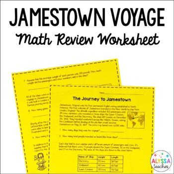Jamestown Math Worksheet *Cross-Curricular* (VS.3)