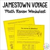Jamestown Math Worksheet *Cross-Curricular*