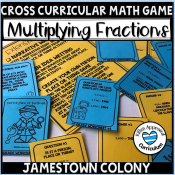 Jamestown Colony 5th Grade Multiply Mixed Number Fractions