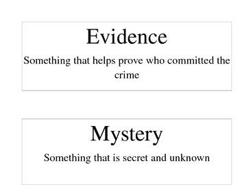 Jamestown Mystery Unit Vocabulary