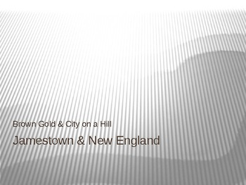 Jamestown & New England Powerpoint Notes