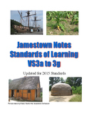 Jamestown Notes for Virginia Studies SOLs 3a-3g