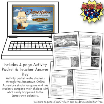 Jamestown Online Adventure WebQuest